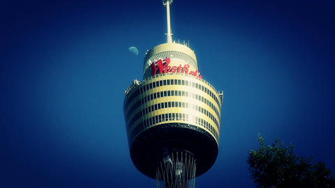 Centrepoint Sydney Tower 02 stylized Stock Video Footage