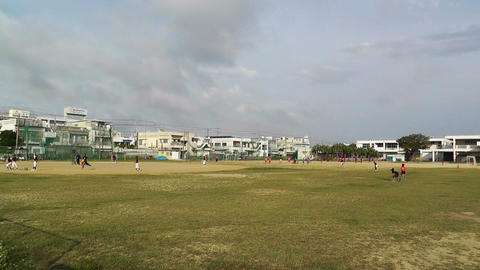 Elementary School Sport Center in Okinawa Islands Japan 01 Stock Video Footage