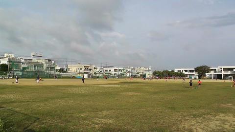Elementary School Sport Center in Okinawa Islands Japan 01 Stock Video Footage