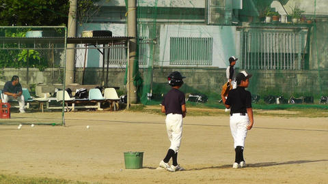 Elementary School Sport Center in Okinawa Islands Japan 03 baseball Footage