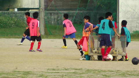 Elementary School Sport Center in Okinawa Islands Japan 05 football soccer Footage
