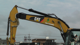 Excavator in work Okinawa Islands 04 Stock Video Footage