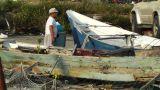 Fishing Port in Okinawa Islands 02 fisherman Footage