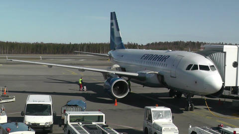 Helsinki Vantaa Airport 05 handheld Stock Video Footage