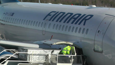 Helsinki Vantaa Airport 07 handheld Stock Video Footage