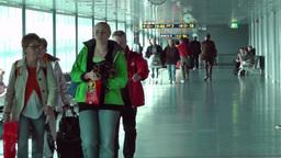 Helsinki Vantaa Airport 13 handheld Stock Video Footage