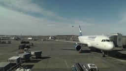 Helsinki Vantaa Airport 17 handheld Stock Video Footage