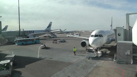 Helsinki Vantaa Airport 19 handheld Stock Video Footage