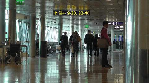 Helsinki Vantaa Airport 21 60fps native slowmotion handheld Stock Video Footage