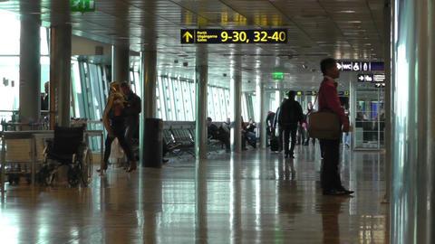 Helsinki Vantaa Airport 21 60fps native slowmotion handheld Stock Video Footage