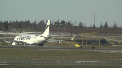 Helsinki Vantaa Airport 25 handheld Stock Video Footage