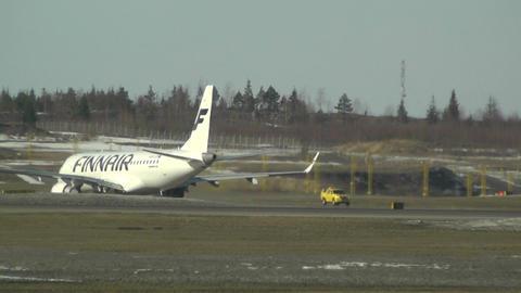 Helsinki Vantaa Airport 25 handheld Stock Video Footage