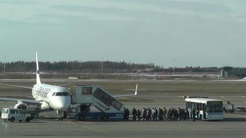 Helsinki Vantaa Airport 27 handheld Stock Video Footage