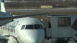 Helsinki Vantaa Airport 29 handheld Stock Video Footage