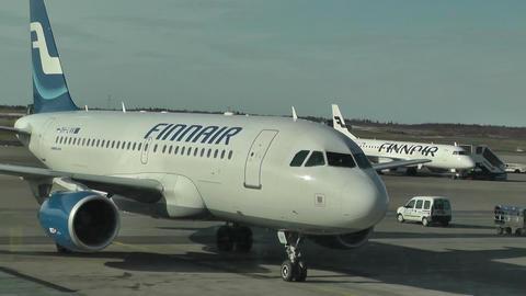 Helsinki Vantaa Airport 33 handheld Stock Video Footage
