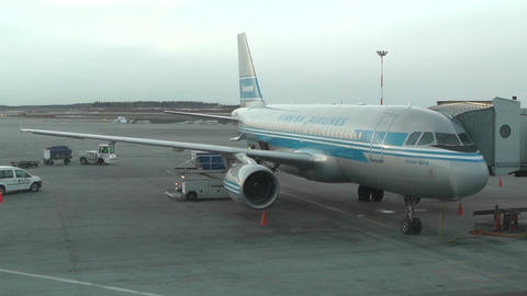 Helsinki Vantaa Airport 35 handheld Stock Video Footage