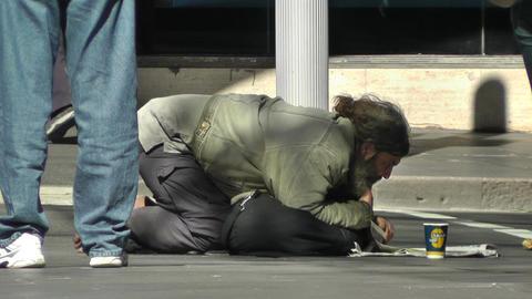 Homeless Beggar Footage