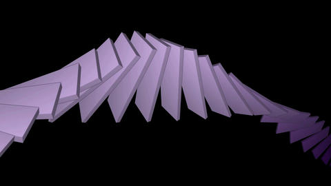 deform square card papers math geometry array,conveyor... Stock Video Footage