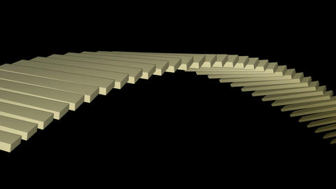 square box shaped arch bridge,math geometry array,conveyor belt & stairs,com Animation