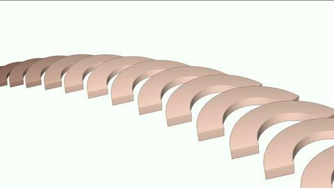 arch math geometry array,conveyor belt &... Stock Video Footage