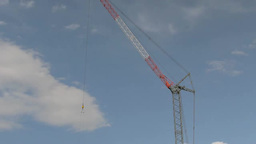 Crane on a building under construction Footage