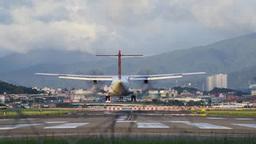 着陸する飛行機 Filmmaterial