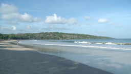 Silent Beach In Bali, Indonesia stock footage