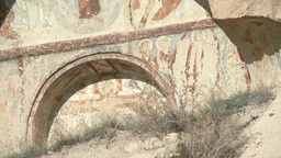 Wall Painting In Cappadocia, Turkey stock footage