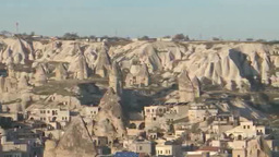 Rock formation in Cappadocia, Turkey Footage