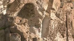 Close-up view of rock in Cappadocia, Turkey Footage