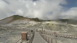 Steam rising from ground in Tateyama, Japan Footage