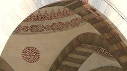 Interior Of Blue Mosque In Istanbul, Turkey stock footage