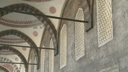 Interior of Blue Mosque in Istanbul, Turkey Footage