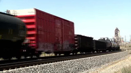 A railcar passing on railroad Footage