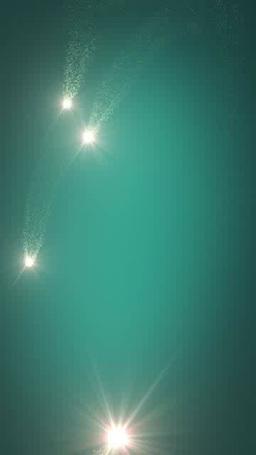 光の粒を散らしながら旋回する光芒 영상물