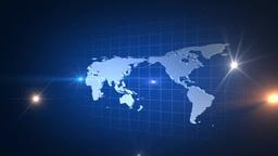 光芒旋回と世界地図 Footage
