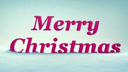 雪にMERRY CHRISTMAS Footage