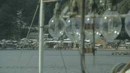 イカ釣り漁船と舟屋 Footage
