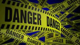 PoliceTape Danger Blue Footage