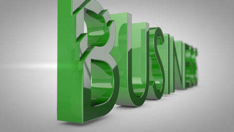 Business word 3D animation CG動画素材