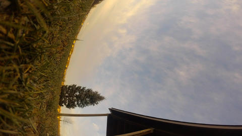 Timelapse Clouds In The Park stock footage