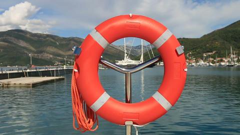 Lifebuoy stock footage