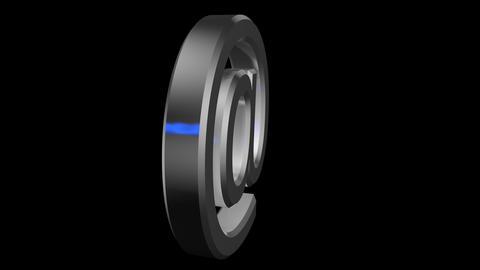 3d metalic sign @ spinning alpha loop Animation