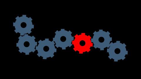 gears spinning alpha loop Animation