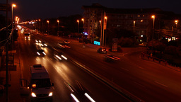 Otopeni, Near Bucharest, Romania - October2015, Evening. Traffic On National Hig stock footage
