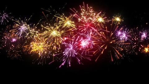 beautiful fireworks seamless loop animation 4k (4096x2304) Stock Video Footage