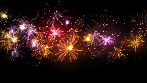 beautiful fireworks seamless loop animation 4k (4096x2304) Animation