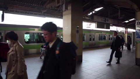 11of 23 Japanese people , commuters , tourists traveling , train , Tokyo , Japan Footage