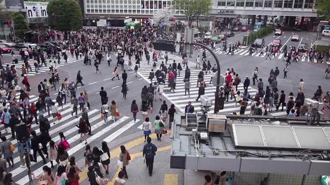 18of 23 People , pedestrians walking , traffic , Shibuya Crossing , Tokyo , Japa Footage
