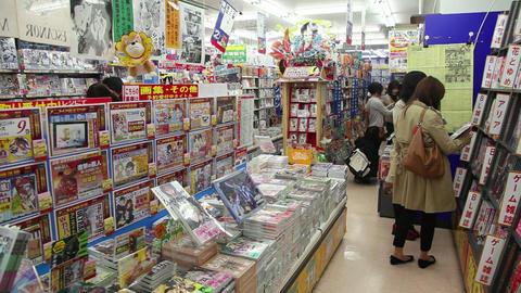 1of 10 Shop , store , comics , manga books , magazines , Kyoto , Japan , Asia Live Action